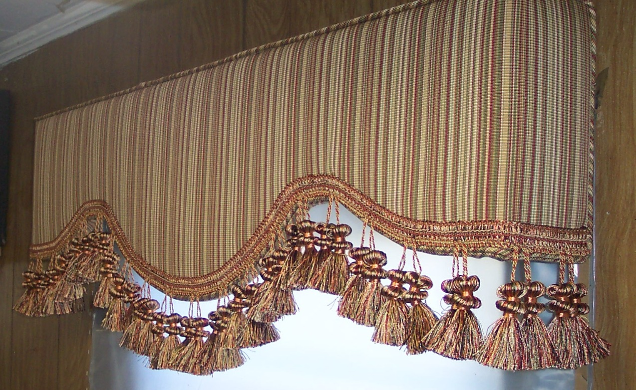 Greenfield upholstered cornice boards