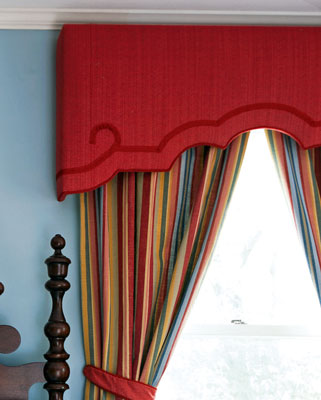 Upholstered cornice boards in Greenfield IN